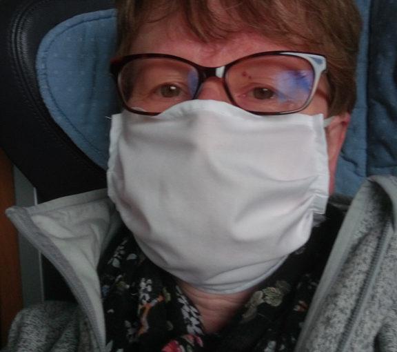 Mit Maske im IC